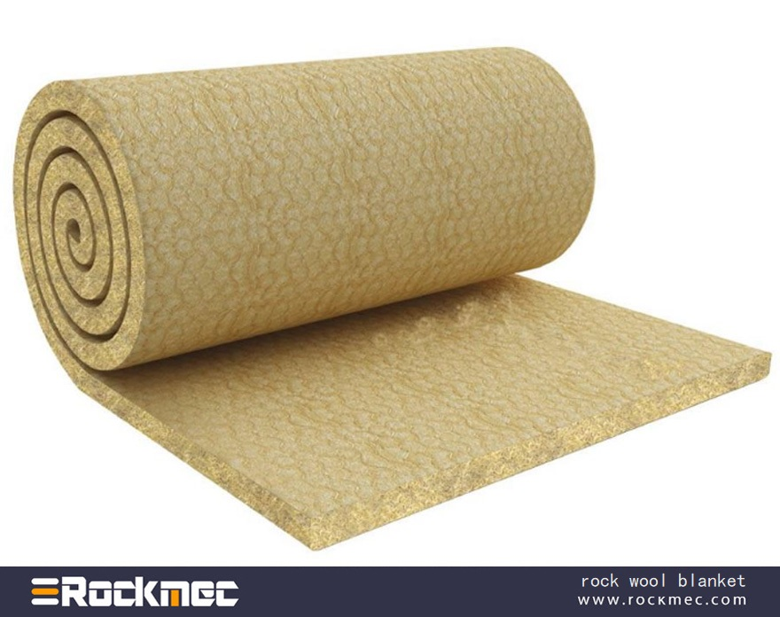 Rock wool blanket